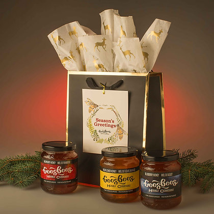 Holiday Honey Care Package - Black & Gold
