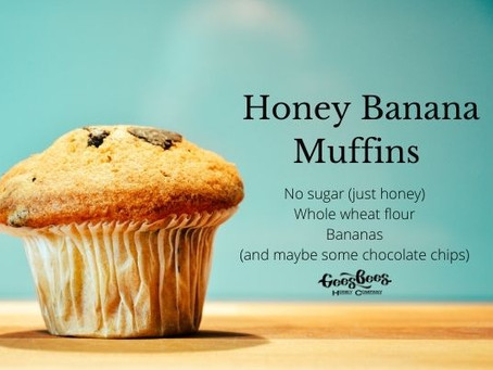 Whole Wheat Honey Banana Muffin Recipe