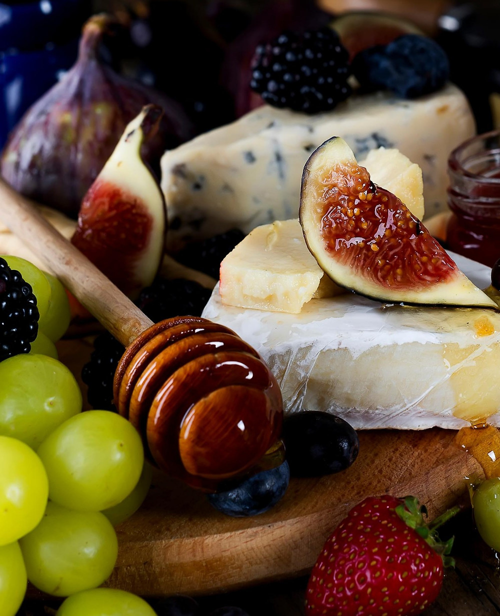 Honey, Brie, Figs, Grapes