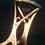 """Thumbnail: """"Joy"""" Candle Holder, Shabbat candle holder"""