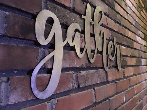 Gather 48 Inch - Inspiring Wall Words