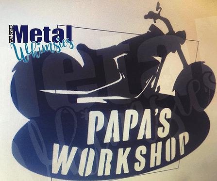 Motorcycle Workshop sign