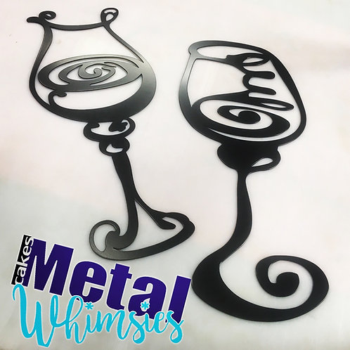 Wine Glasses Metal Wall Art 3 styles to choose from