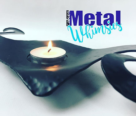 Tea Light Candle Holder Modern - Blacksmith style