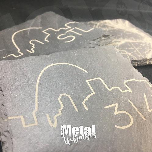 "Slate Coasters -Laser Engraved, 4"""