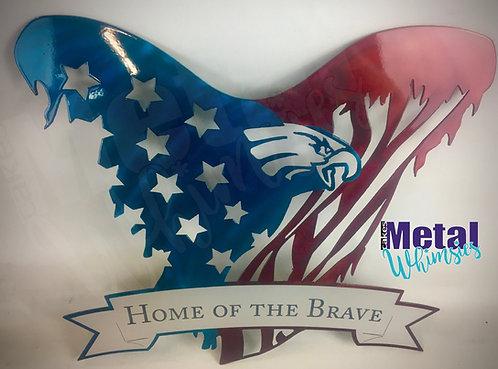 American Eagle Flag w Banner