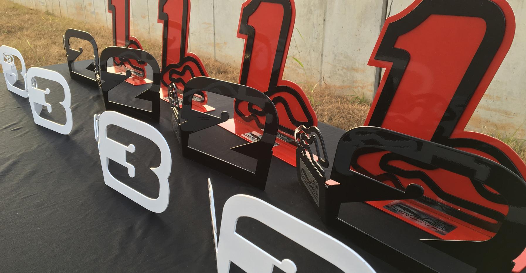 WRL Podium Trophies on display at NCM