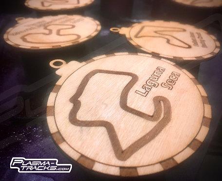 Track Ornament -Classic Wood