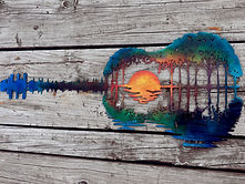 Sunset Guitar by Cake's Metal Whimsies