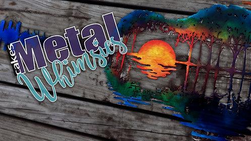 Lake Sunset Guitar - Wall Art