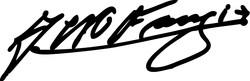 Fangio Signature Autograph