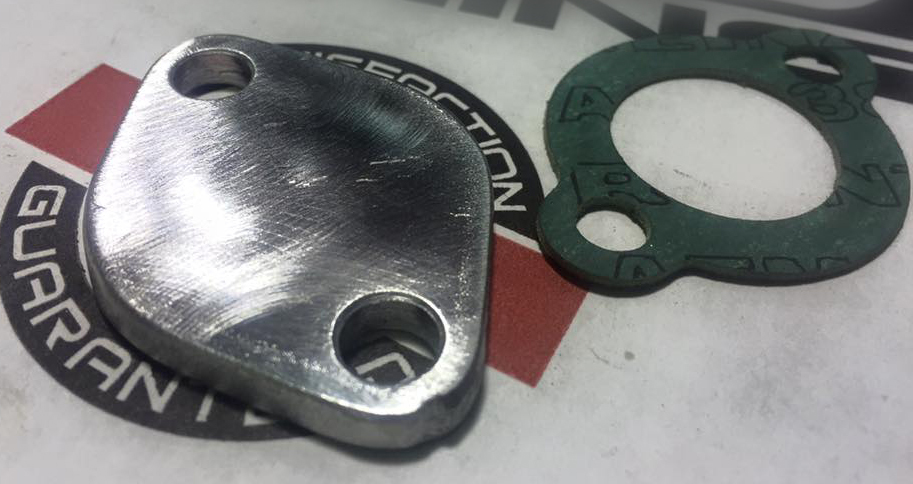 BMW M20 heater block off plate