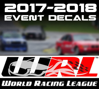 2016 -2018 World Racing League Vinyl Decals