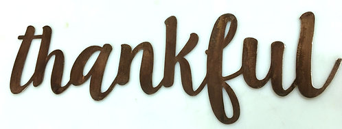 Thankful 24 to 36 Inch - Inspiring Wall Words