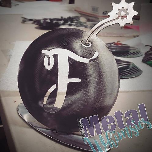 F Bomb Metal desk display