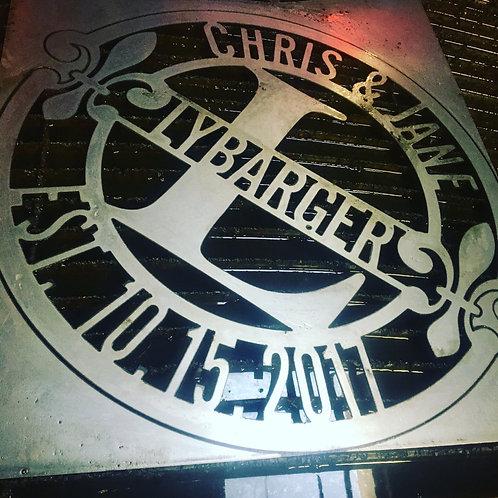 Fluer Di Lis Steel Monograms- Cake's Metal Whimsies 24 inch
