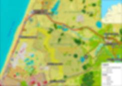 Kort over Kraansvlak bisonreservat