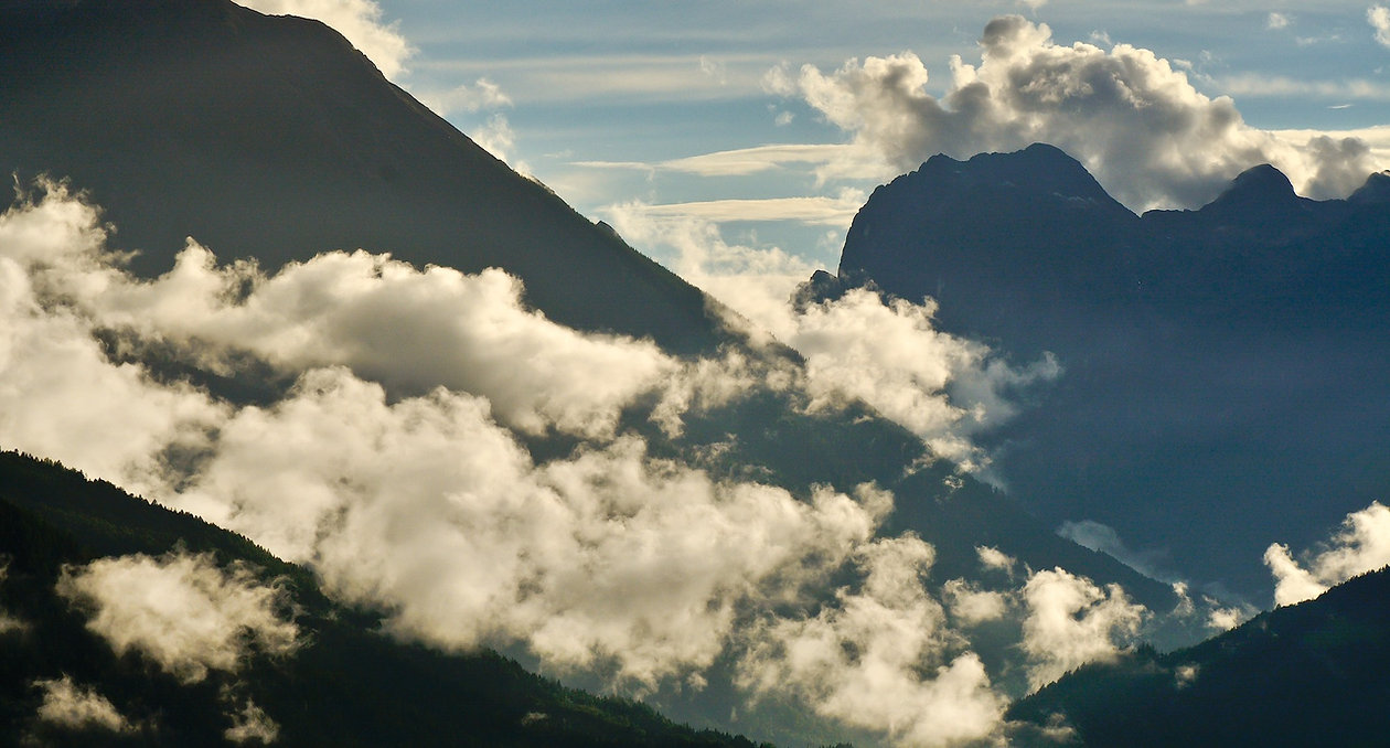 En sen aftentime, hvor bjergene damper i Berchtesgaden Nationalpark(foto © Rune Engelbreth Larsen).