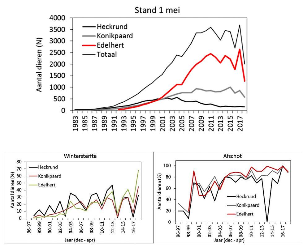 Statistik over dødelighed af Oostvaardersplassens større græssere