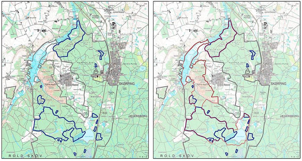 Naturzone Rold Skov & Rebild Bakke: 830 hektar (Naturzonen.dk)
