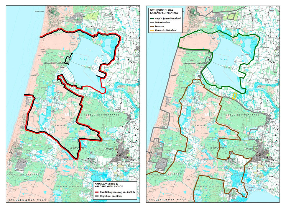Forslag til 5.600 hektar stor Naturzone Filsø & Kærgård (kort)