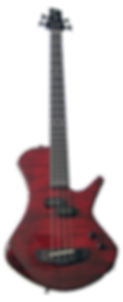 red custom bass guitar