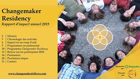 Changemaker Residency 2019 - Rapport d'i
