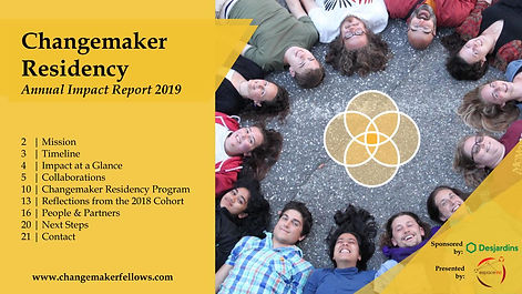 Changemaker Residency 2019 - Annual Impa