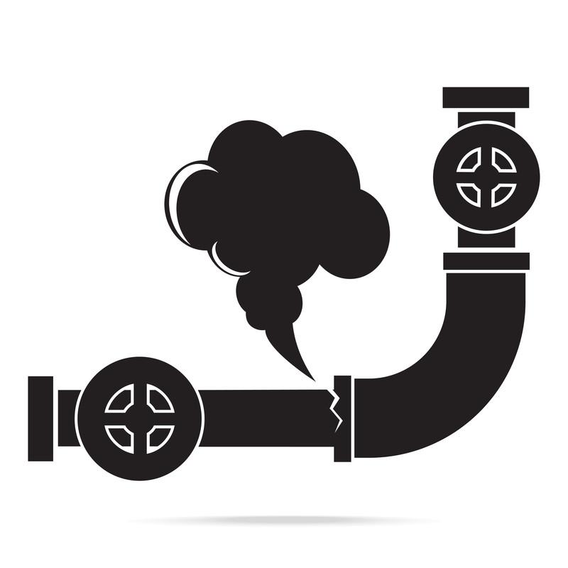 Gas Leak Graphic