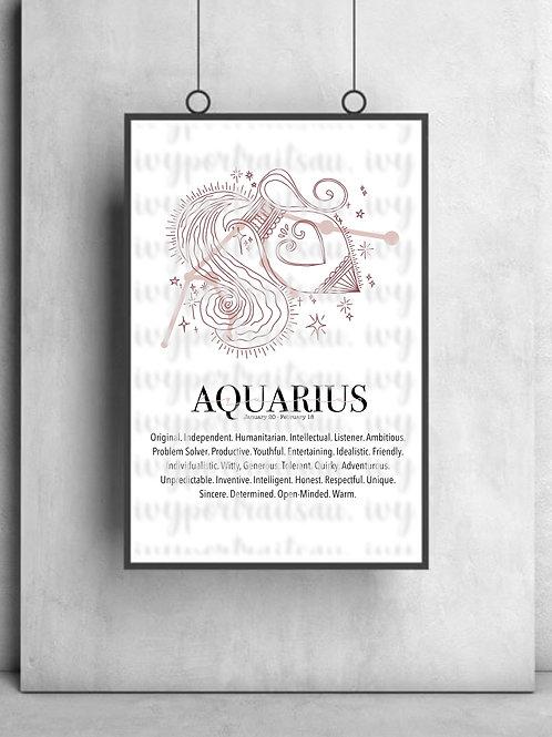 AQUARIUS Ivy Print