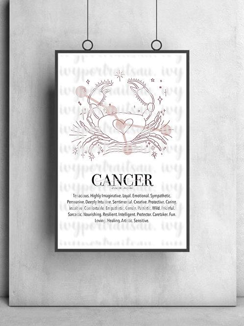 CANCER Ivy Print