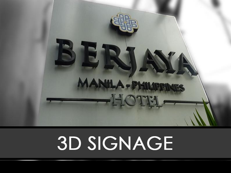 3D signage