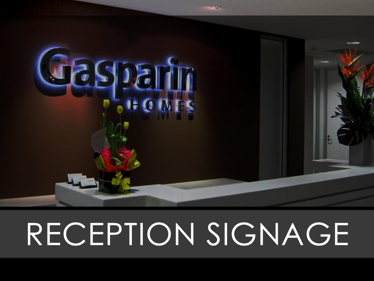Reception Interior Sign