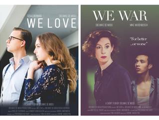 De posters van m'n films zijn af!
