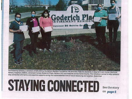 Goderich Place featured in Signal Star