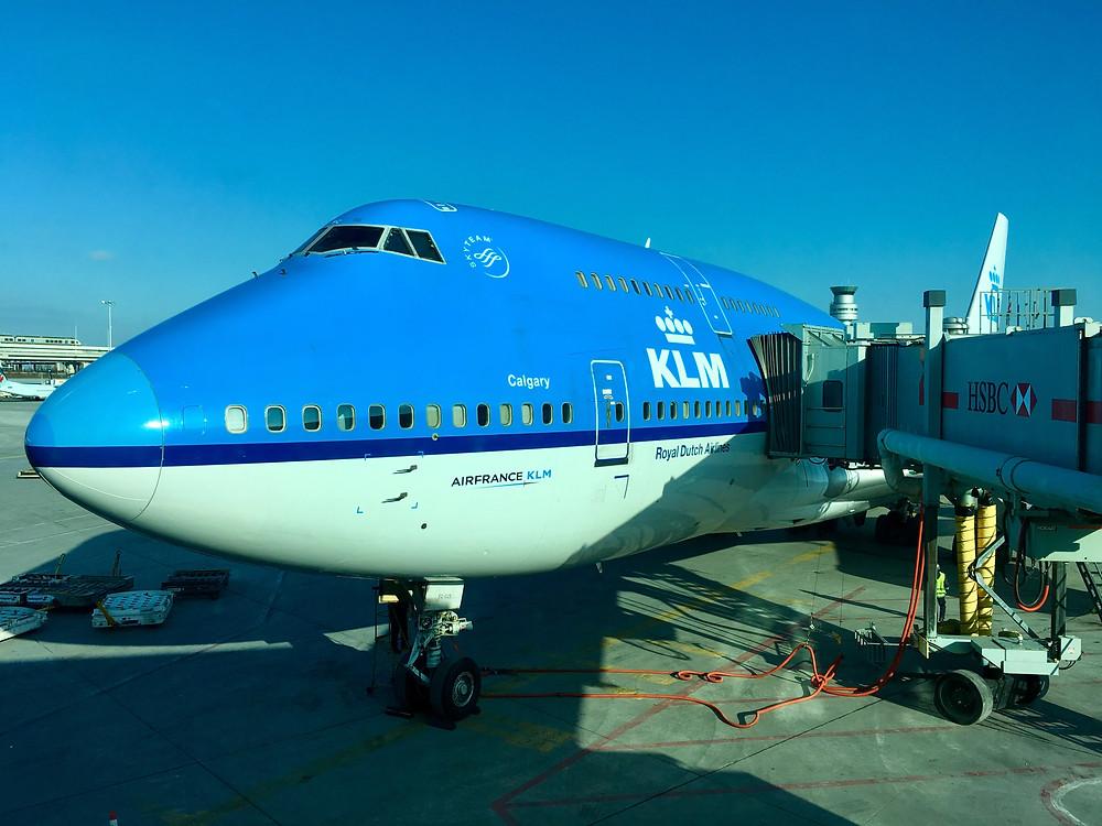 KLM Boeing 747 YYZ