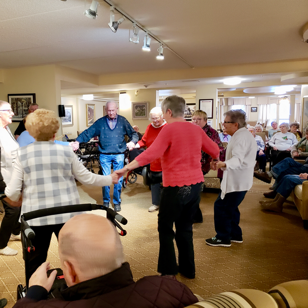 Goderich Place residents dancing