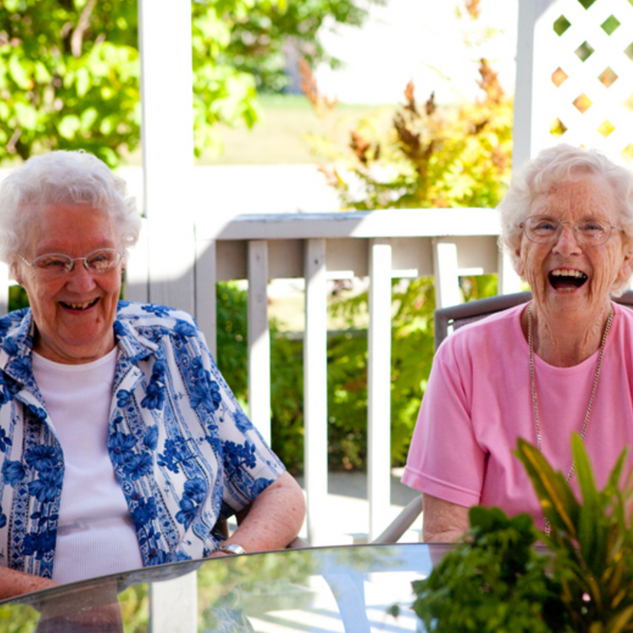 Goderich Place residents laughing