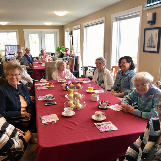 Goderich Place residents enjoying a meal