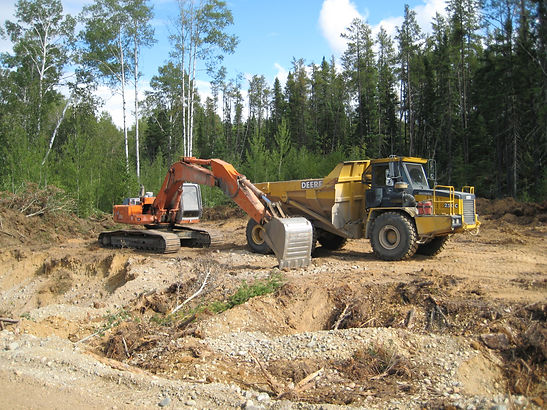 Logging and road building on Ontex claim