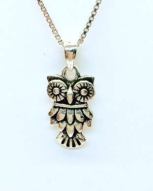 Sterling silver Little Owl Pedant.png