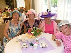 Palisade Gardens residents enjoying tea