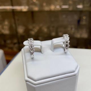 Novoro 14K White Gold Diamond Hoops