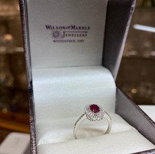 Samsara 18K Gold -Diamond/Ruby $2589