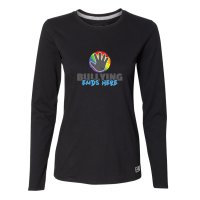 Ladies Black Long Sleeve with Large Pride Logo