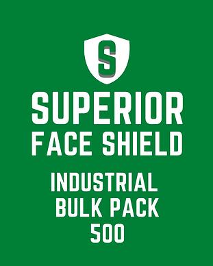 Superior Face Shield INDUSTRIAL BULK PAC