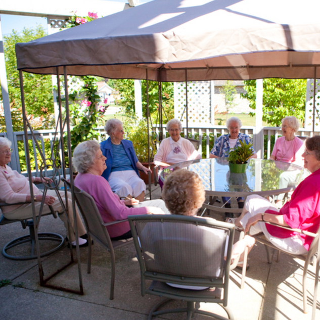 Goderich Place residents socializing