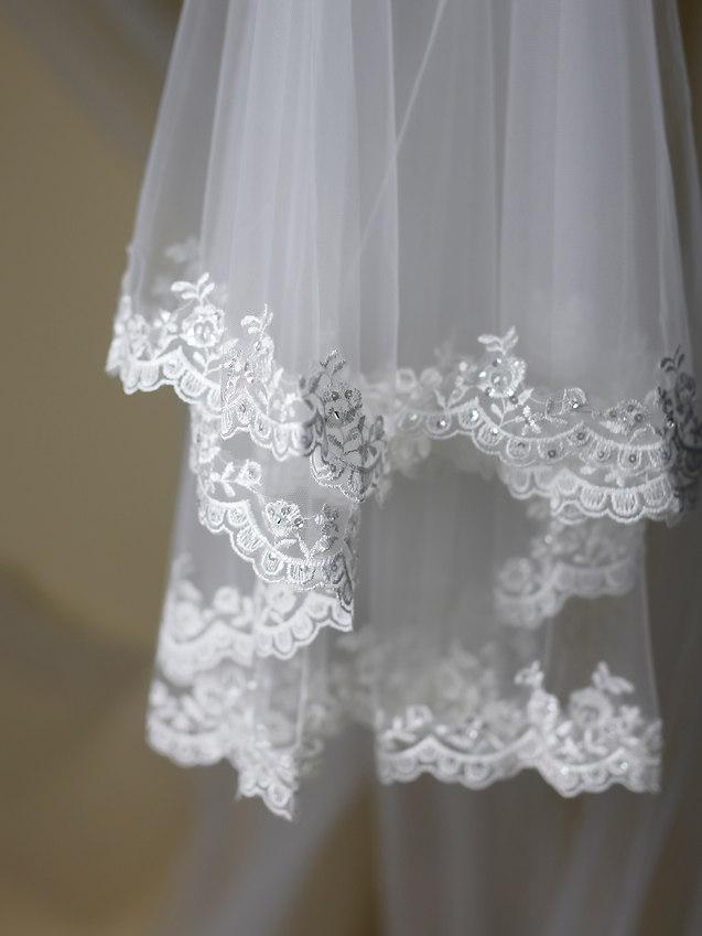Waren York lace edged Veil