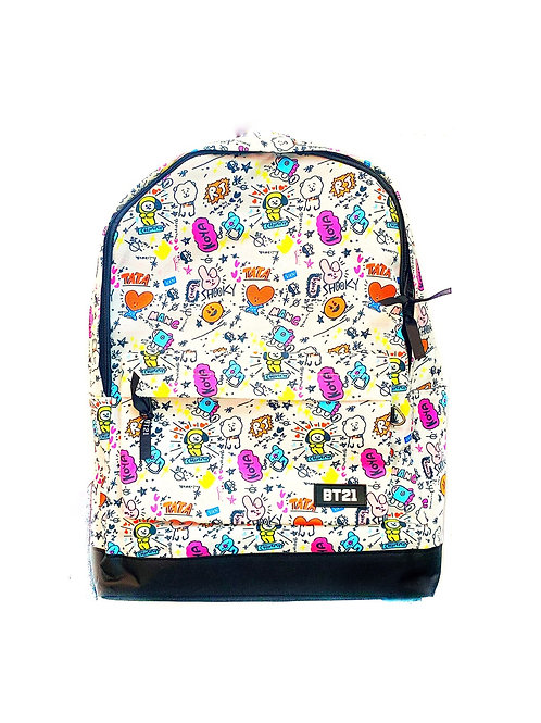 BTS School Bag (White)