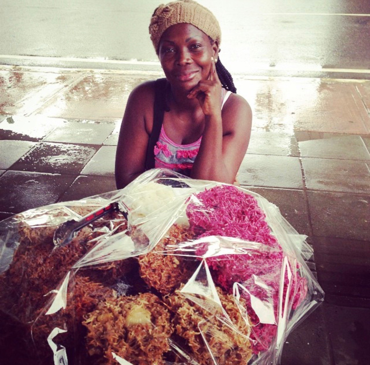Maria, AfroColombian cocada vendor from Cartagena.